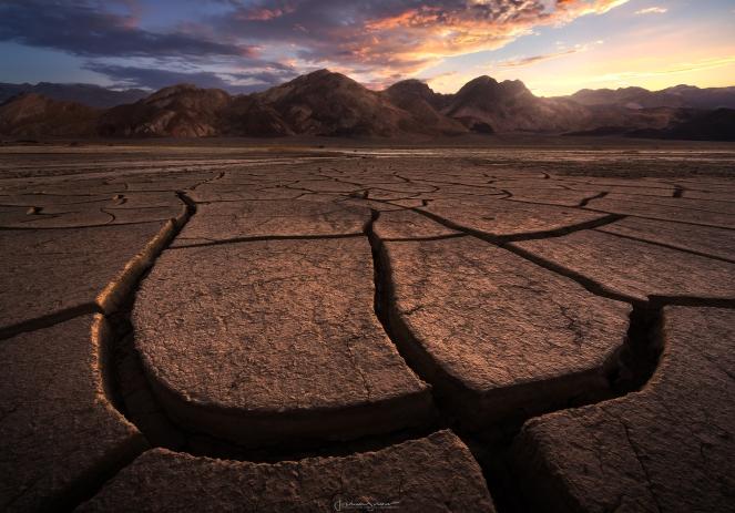 Mud Crack Sunrise copy