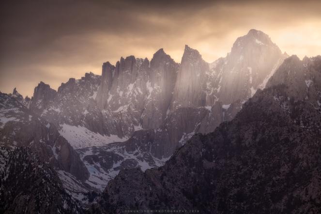 Mount Whitney Telephoto Sunset copy