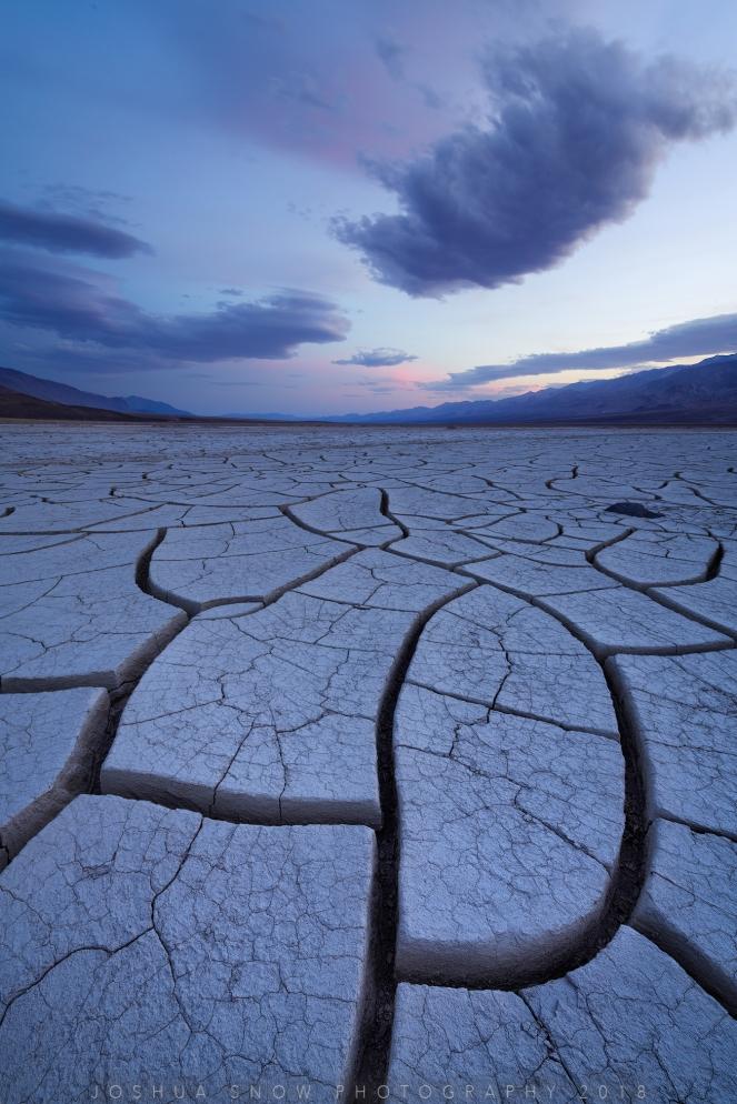 Mud Crack Verticle Twilight Blue Hour copy